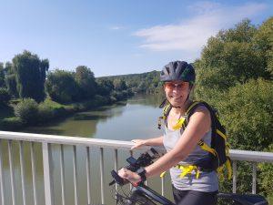 Ich auf dem Fahrrad in Neckartenzlingen